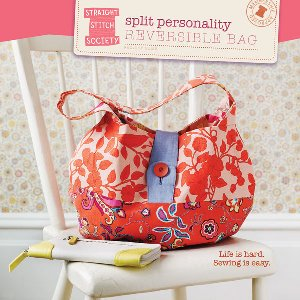 Straight Stitch Society Sewing Patterns - Split Personality Reversible Bag Pattern
