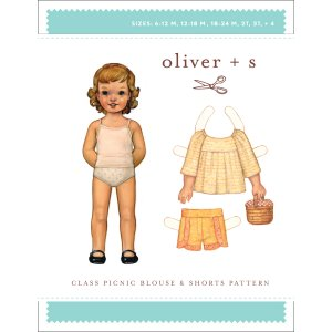 Oliver + S Sewing Patterns - Class Picnic Blouse + Shorts (5-12 years) Pattern