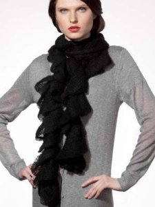 Katia Park Avenue Ruffle Scarf Kit - Scarf and Shawls