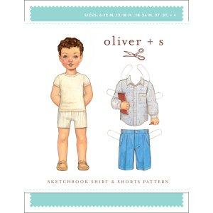 Oliver + S Sewing Patterns - Sketchbook Shirt + Shorts (6 months - 4) Pattern