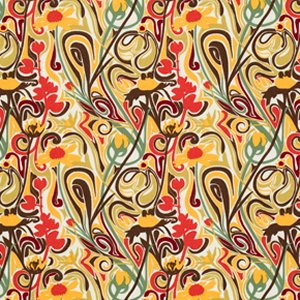 Mark Cesarik Summer Camp Fabric - Wildflowers - Gold
