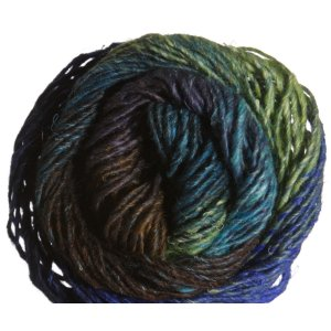 Noro Silk Garden Yarn - 377 Blue, Lime (Discontinued)