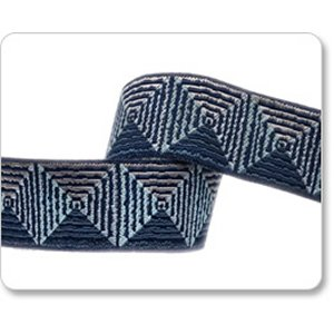 Renaissance Ribbons Parson Gray Ribbon Fabric - Giza - Blue - 7/8""
