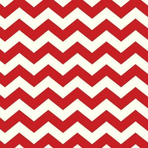 AdornIt Basic Fabric - Chevron - Cherry Red
