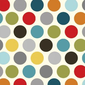 AdornIt Basic Fabric - Vintage Polka Dot - Charcoal