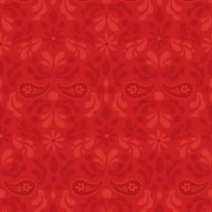 AdornIt Basic Fabric - Paisley Damask - Red