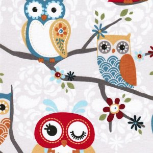 AdornIt Nested Owl Charcoal Fabric