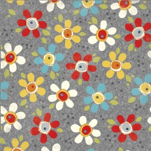 AdornIt Wildflower Fabric - Pop Daisy - Charcoal