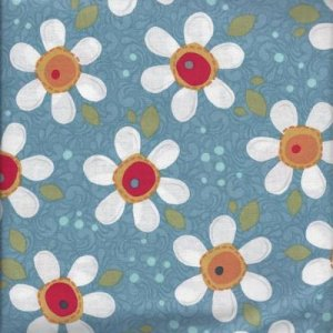AdornIt Wildflower Fabric - Pop Daisy - Blue