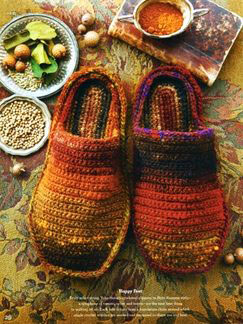 Noro Kureyon Crochet Slippers Kit - Women's Accessories