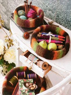 Noro Hitsuji Felted Bowls (Set of Three) Kit - Home Accessories