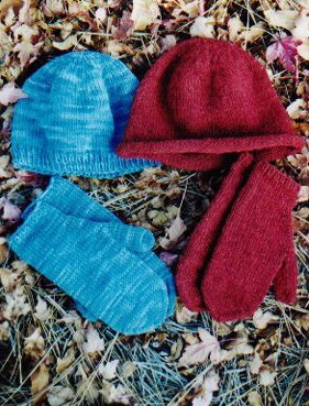 Knitting Pure and Simple Hat and Mitten Patterns - 223 Basic Hat and Mitten Set Pattern