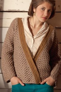Cascade 220 Superwash Prairie Grass Cardigan Kit - Crochet for Adults