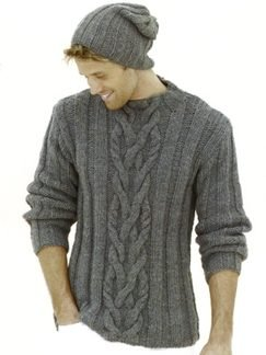 Sublime Chunky Merino Tweed Staghorn Sweater Kit - Mens Sweaters