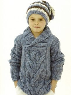 Sublime Chunky Merino Tweed Staghorn Wrap Kit - Mens Sweaters