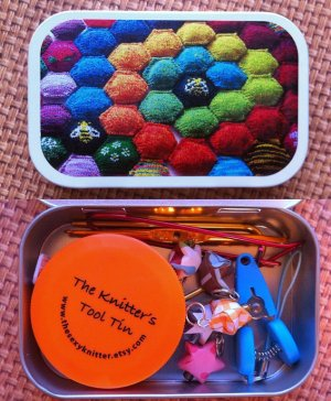 The Sexy Knitter Knitter's Tool Tins - Beekeeper's Quilt