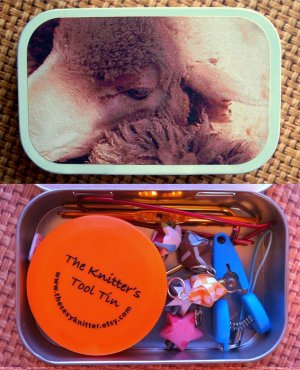 The Sexy Knitter Knitter's Tool Tins - Sheep