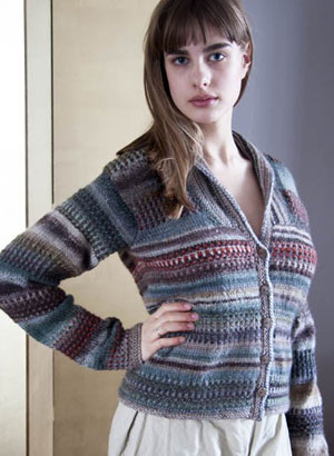 Wisdom Yarns Poems Silk and Chunky Parker Cardigan Kit - Women's Cardigans