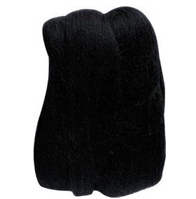 Clover Natural Wool Roving Yarn - Black