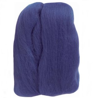 Clover Natural Wool Roving Yarn - Blue