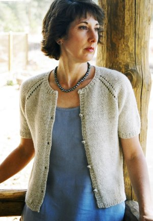 Knitting Pure and Simple Women's Cardigan Patterns - 0221 - Neckdown Summer Cardigan Pattern