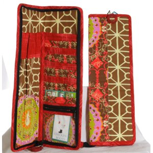 Chicken Boots Long Needle Case - Seahorses
