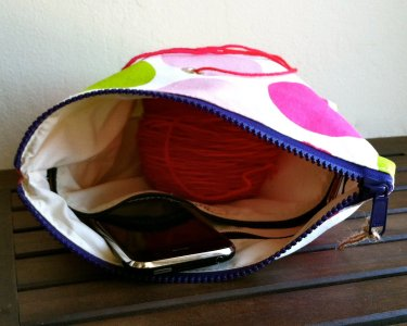 Top Shelf Totes Yarn Pop - Gadgety - Pink & Green Dots