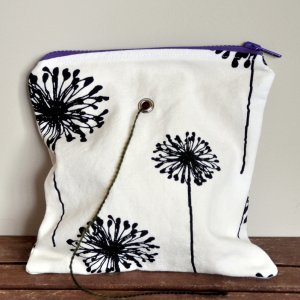 Top Shelf Totes Yarn Pop - Gadgety - Black & White Dandelion