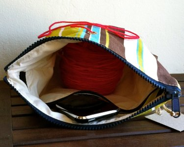 Top Shelf Totes Yarn Pop - Gadgety - Natural Stripe (Discontinued)