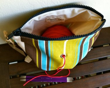 Top Shelf Totes Yarn Pop - Single - Natural Stripe (Discontinued)