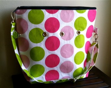 Top Shelf Totes Yarn Pop - Totable - Pink & Green Dots