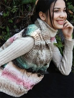 Noro Hitsuji Cabled Vest Kit - Vests
