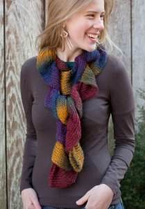 Berroco Glee Ruffle Scarf (Knit) Kit - Scarf and Shawls