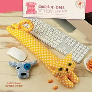Straight Stitch Society Sewing Patterns - Desktop Pets Wrist Rest Pattern