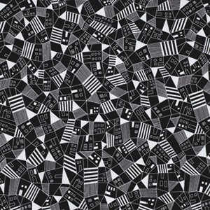 Erin McMorris Astrid Fabric - Mitte - Black