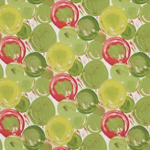 George Mendoza Martini Fabric - Bubbles - Apple
