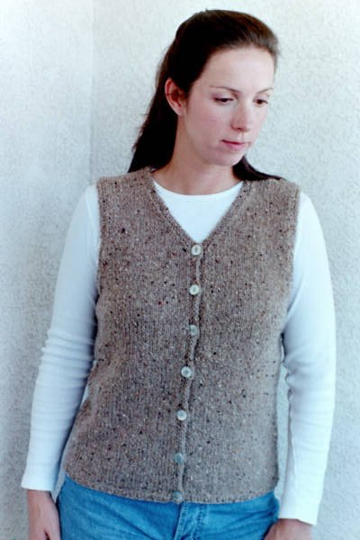 Knitting Pure and Simple Summer Sweater Patterns - 995 - Basic Cardigan Vest for Women Pattern