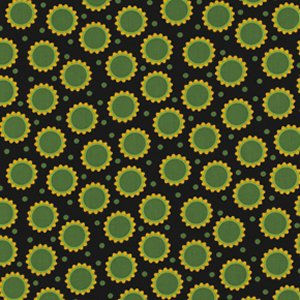 Jane Sassaman Wild Child Fabric - Delirious Dots - Black