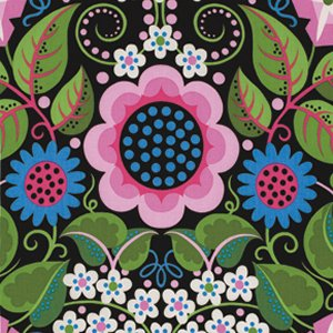Jane Sassaman Wild Child Fabric - Flower Fiesta - Pink