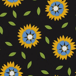 Jane Sassaman Wild Child Fabric - Gaillardia - Blue