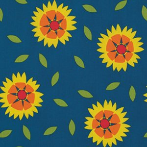 Jane Sassaman Wild Child Fabric - Gaillardia - Red