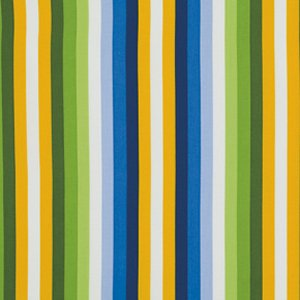 Jane Sassaman Wild Child Fabric - Sassy Stripe - Blue