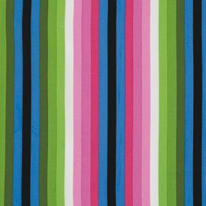 Jane Sassaman Wild Child Fabric - Sassy Stripe - Pink