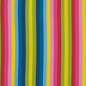 Jane Sassaman Wild Child Fabric - Sassy Stripe - Red