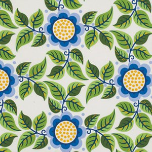 Jane Sassaman Wild Child Fabric - Trellis Tryst - Blue