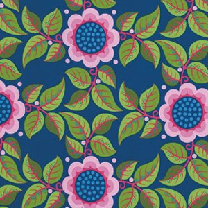 Jane Sassaman Wild Child Fabric - Trellis Tryst - Pink