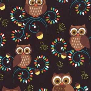 Michael Miller Fabrics Norwegian Woods Fabric - Happy Hooters