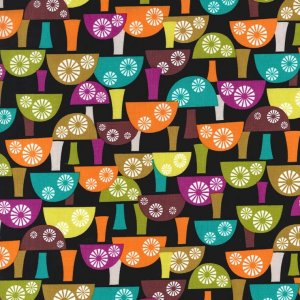 Michael Miller Fabrics Norwegian Woods Fabric - Scandi Mushrooms