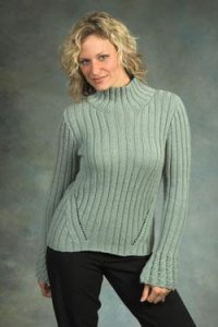 Plymouth Worsted Merino Superwash Rib and Cable Lace Pullover Kit - Women's Pullovers
