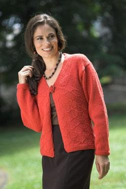 Plymouth Galway Worsted Ladies Cardigan Kit - Women's Cardigans